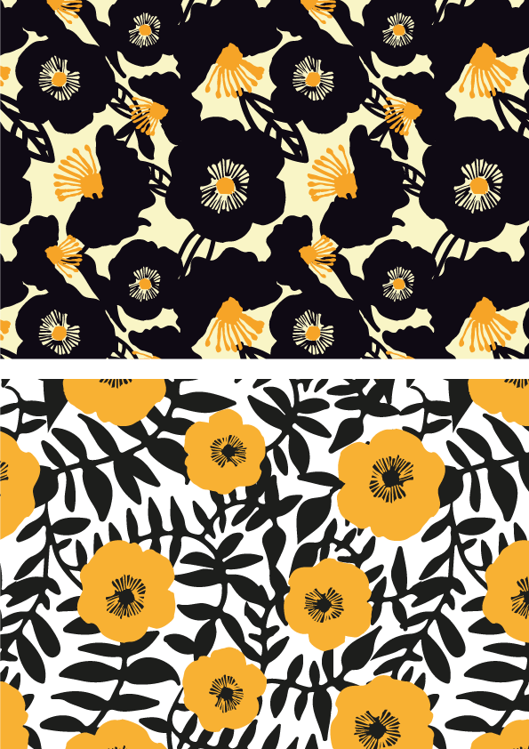 Patterns by sarah edith, via Behance                                                                                                                                                                                 More #flowerpatterndesign