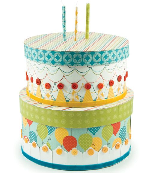 Make Your Own Birthday Party Centerpiece With Paper Birthday Party Centerpieces Paper Projects Diy Paper Cake