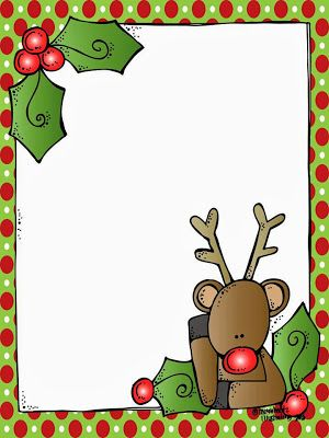 A blank Rudolph letter form for Santa! And it\'s FREE ...