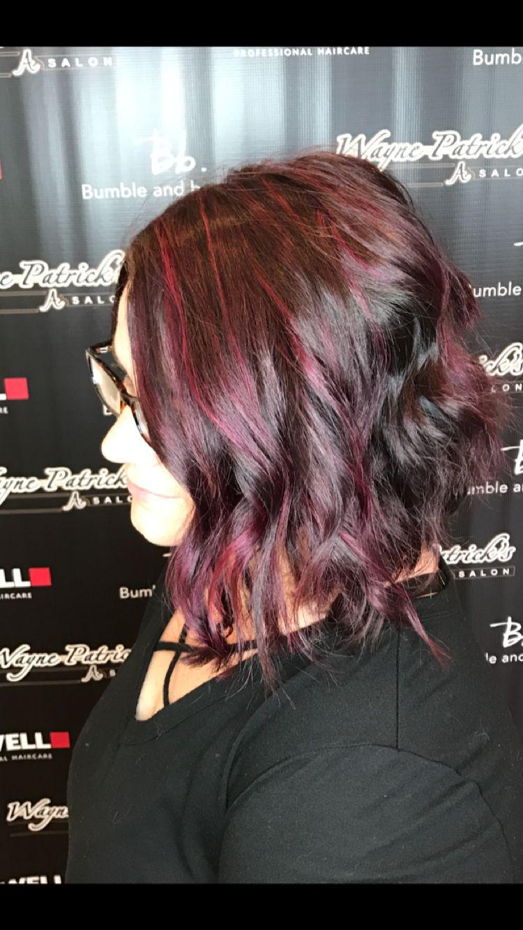 Red violet highlights Red violet highlights, Violet