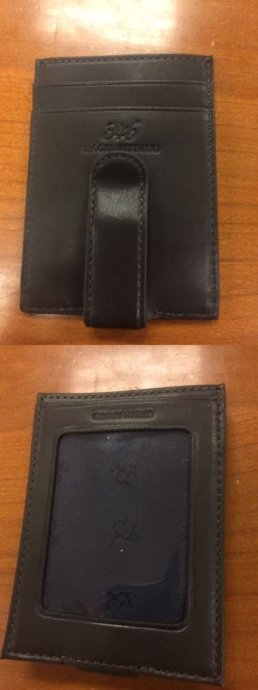 Business and credit card cases 105860 brooks brothers genuine business and credit card cases 105860 brooks brothers genuine leather money clip card holder brown colourmoves