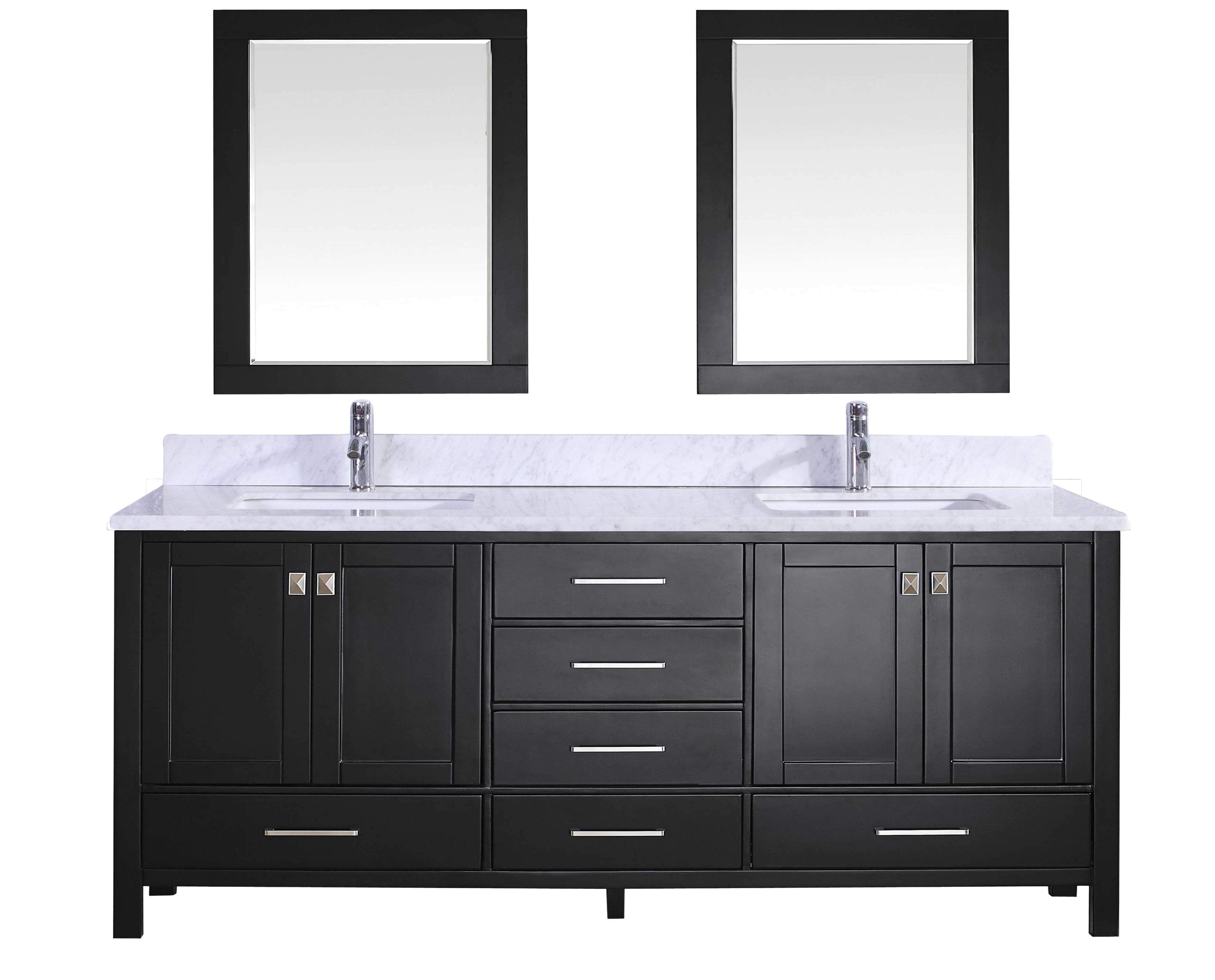 Eviva Aberdeen 84 Inch Bathroom Vanity Sink And Vanity Sink