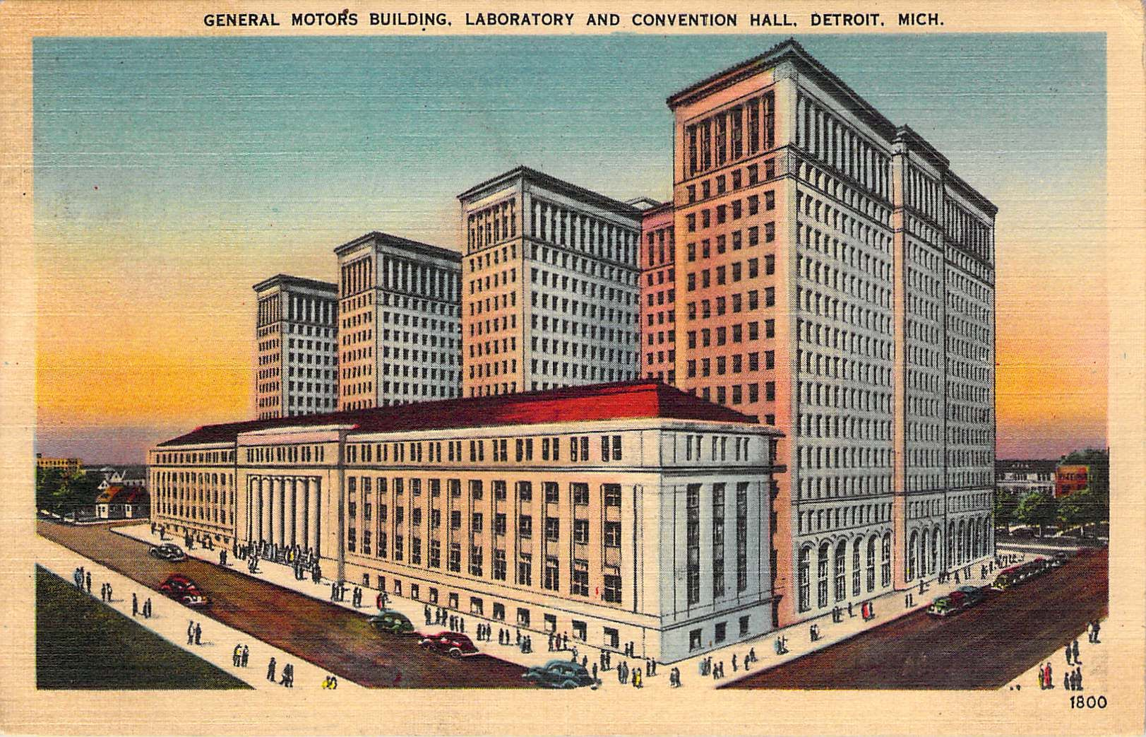 General Motors Building Laboratory And Convention Hall Detroit Mi