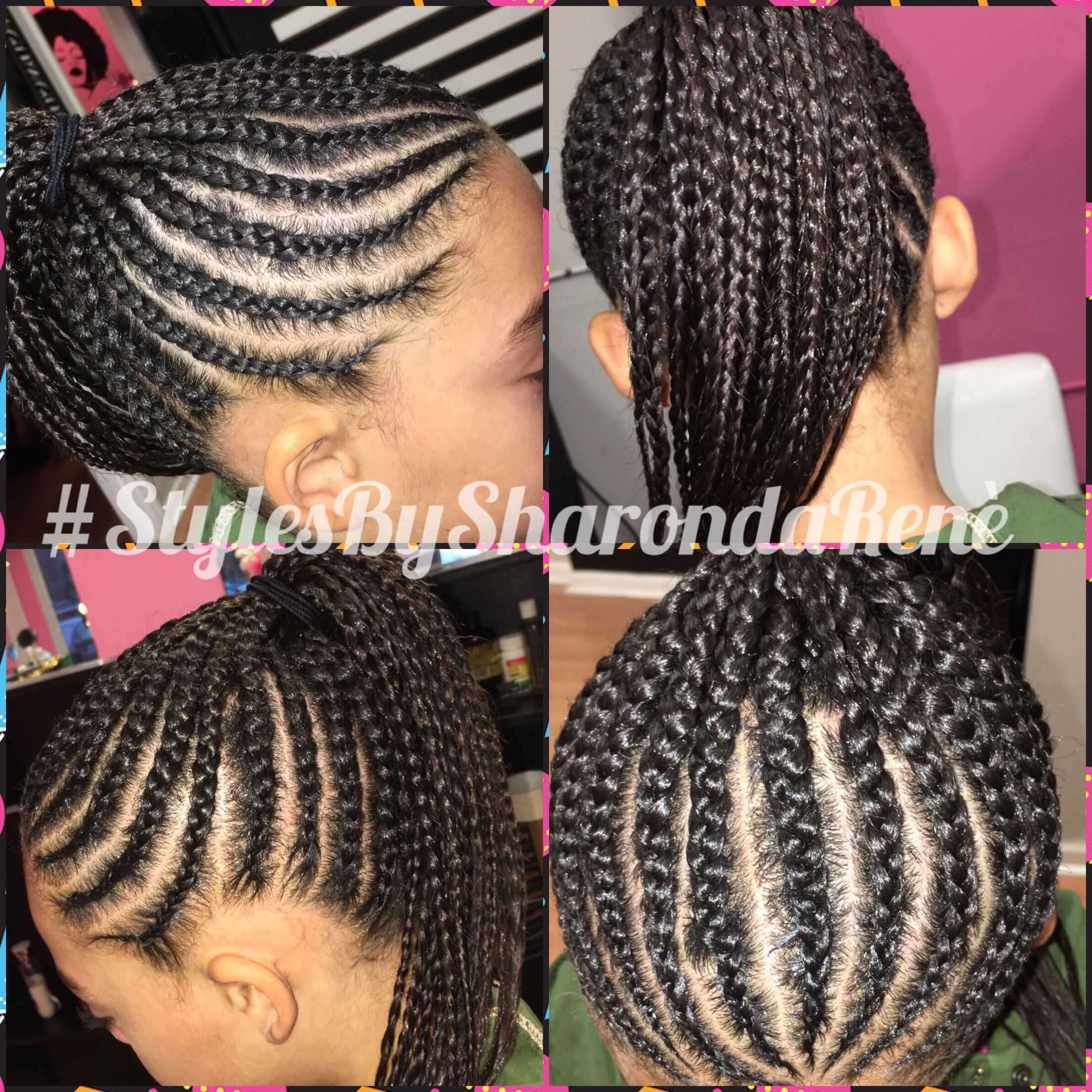 Braided Ponytail Basic Cornrows No Extensions Added All