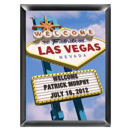 Personalized Las Vegas Marquee Traditional Sign