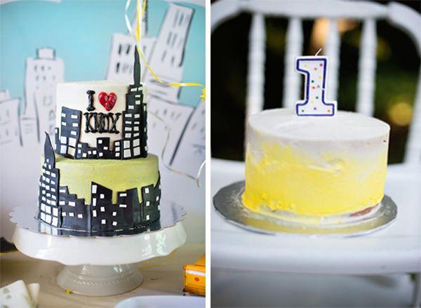 A NEW YORK THEME BIRTHDAY PARTY Cake smash cakes Smash cakes and