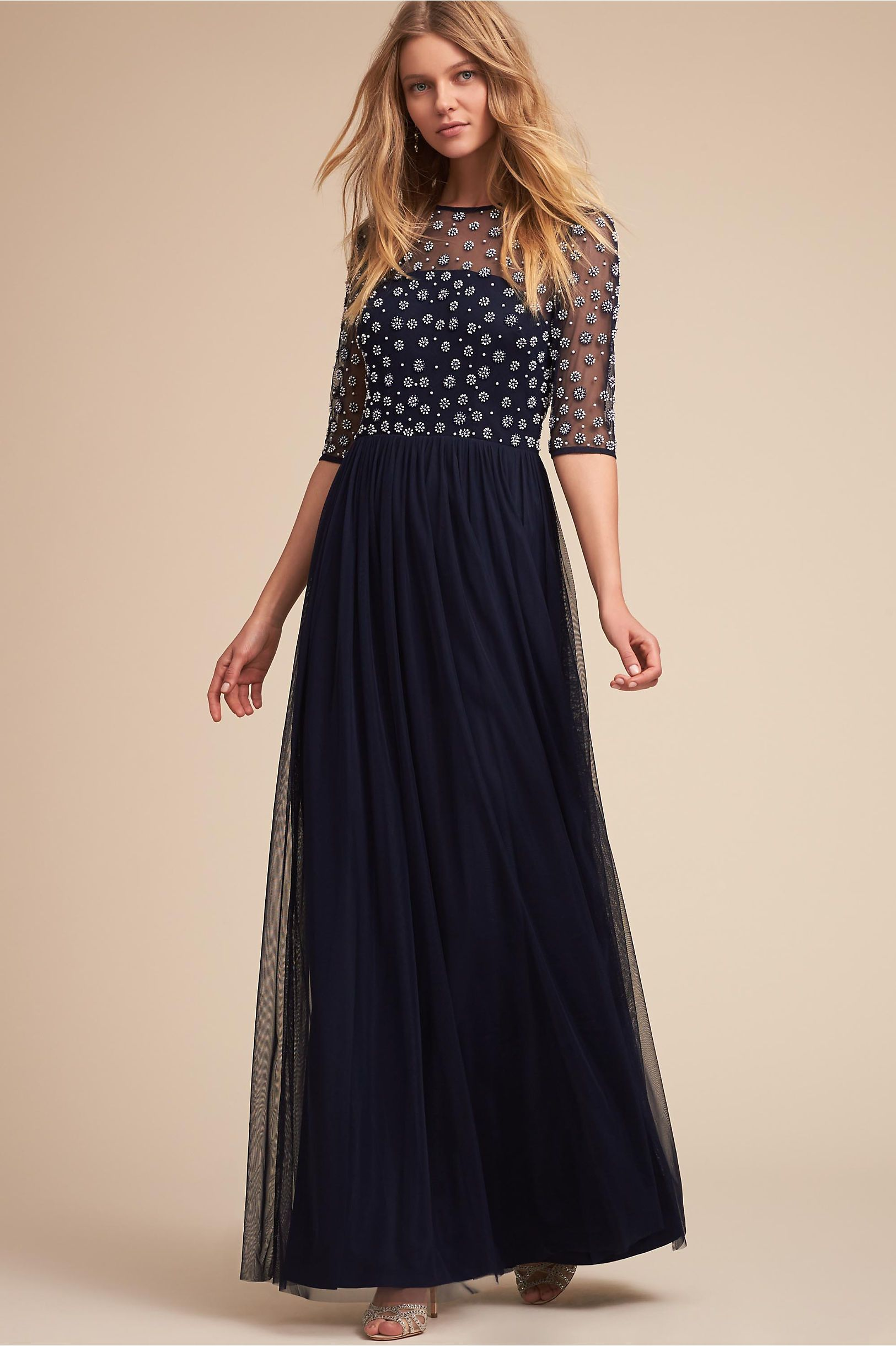 Bhldn navy rowan dress in occasion dresses bhldn