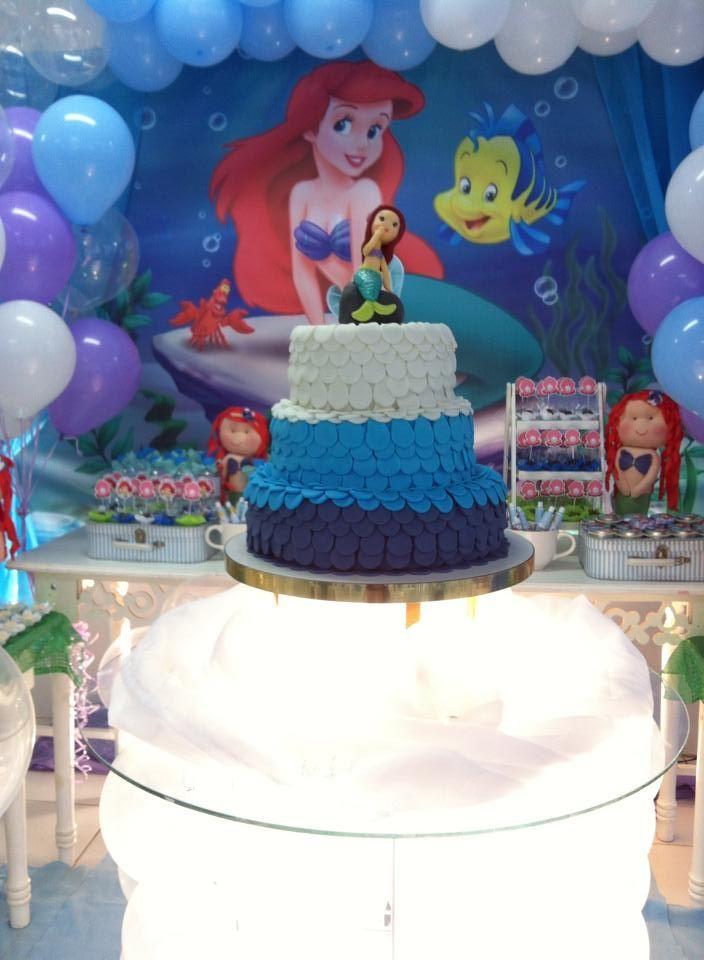Bolo perfeito da Ariel--- Cake Princesa Ariel