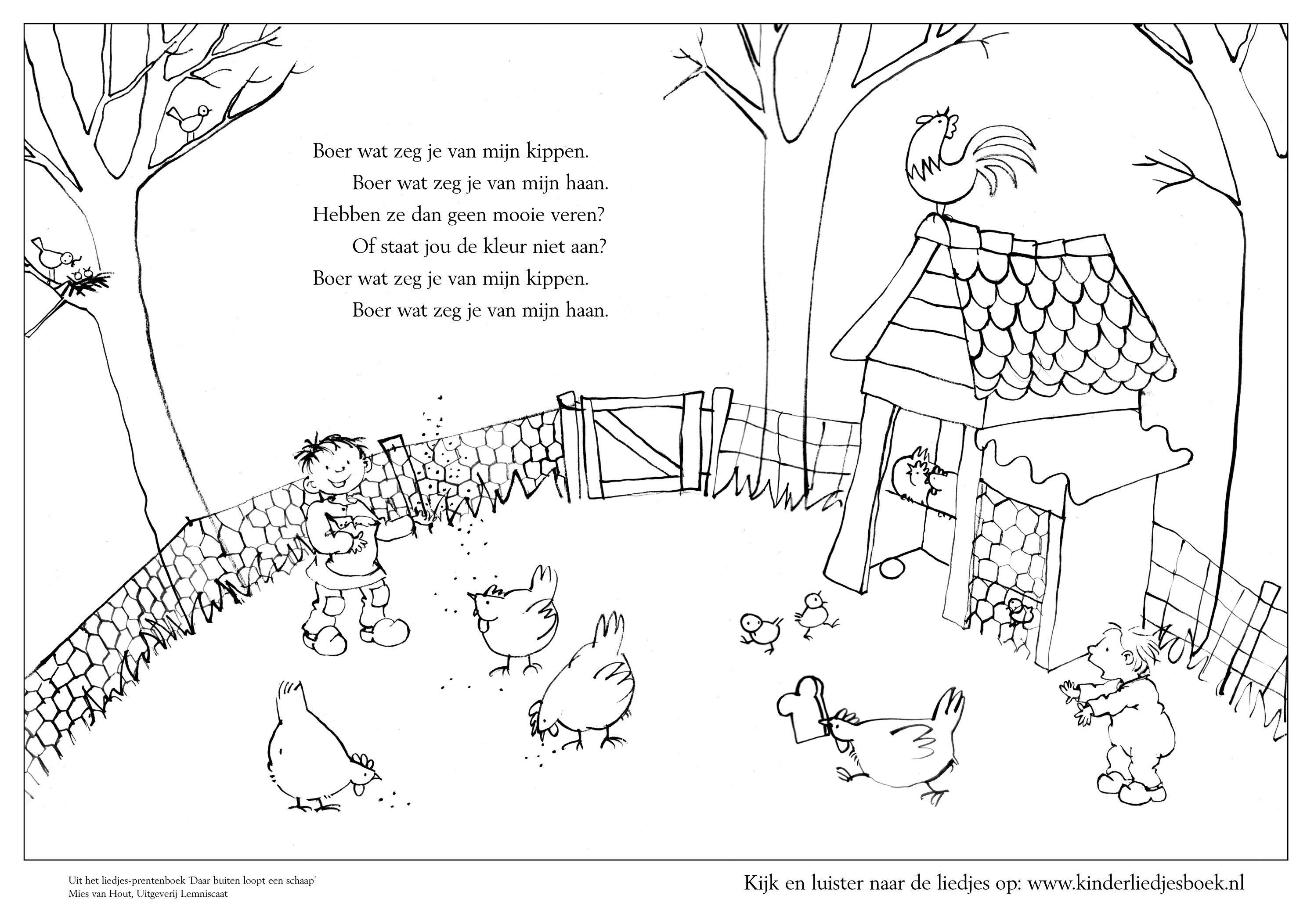Lente Liedje Met Afbeeldingen Boerderij Thema Boerderijdieren Kinderboerderij