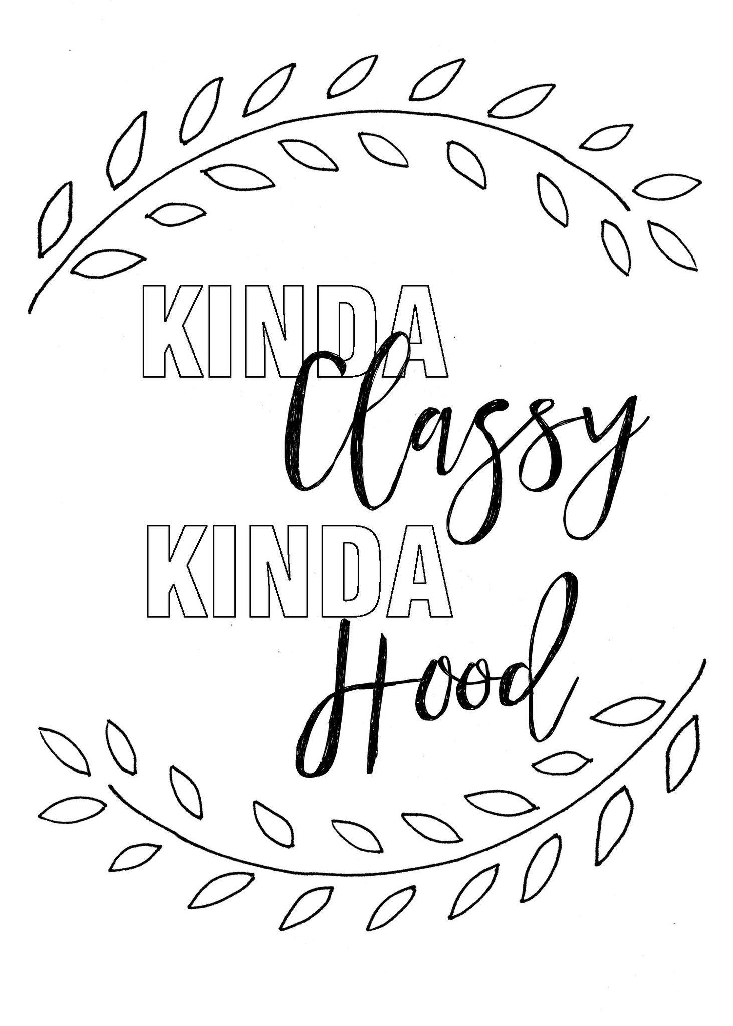 Printable Coloring Card Download Wall Art Kinda Classy Kinda