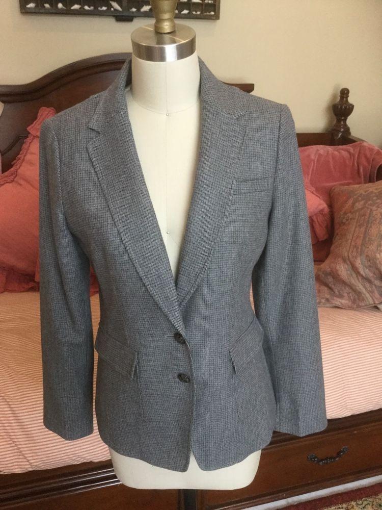 Banana Republic Italian Fabric Blazer Size 6 Wool Blend Extra