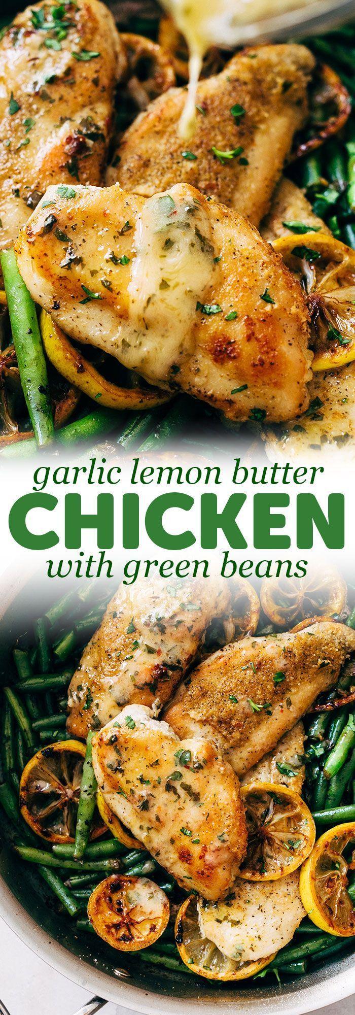 Pfanne Knoblauch Zitronenbutter Huhn - chicken-recipes - #chickenrecipes #Huhn #Knoblauch #Pfanne #Z...