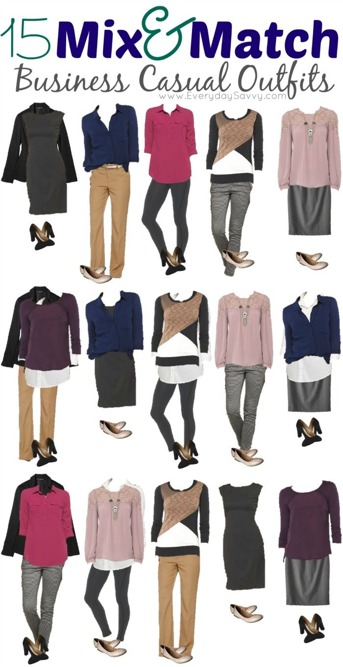 15 Mix And Match Business Casual Outfits From Target With Images