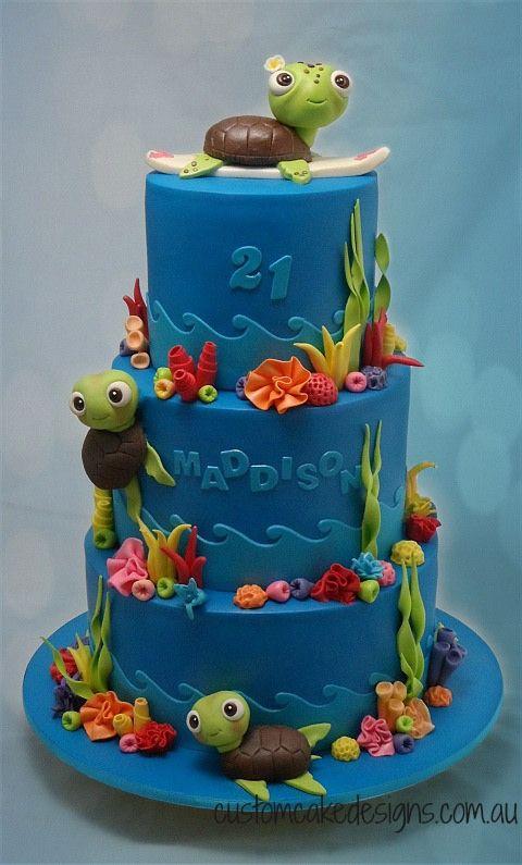 Turtle Underwater Sea Cake By Custom Cake Designs Brycens 2nd