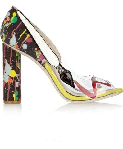 I want this so fucking bad, I would pay for it but it's SOLD OUT - Party Like Pollock Pumps Sophia Webster