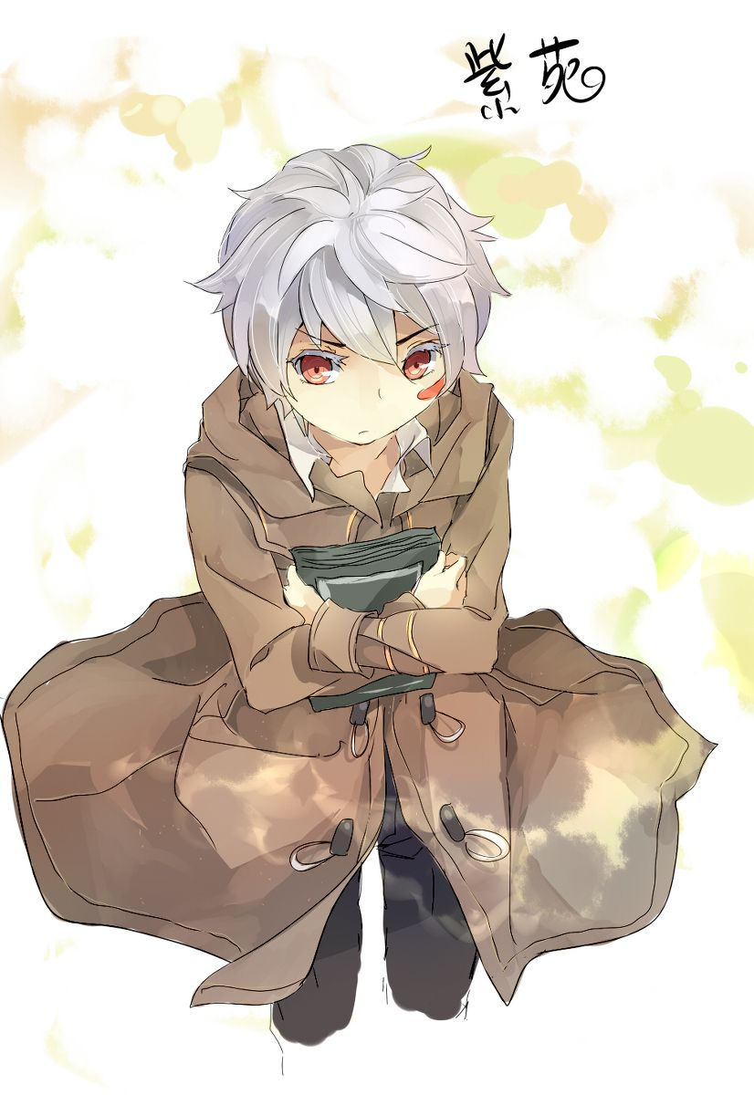 No 6 Such A Serious Face Shion Anime Guys Guys With White Hair Anime