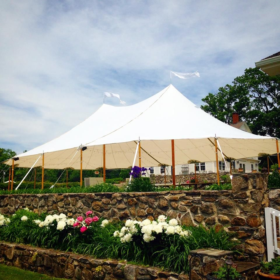 a 44 u0027 x 64 u0027 tidewater sailcloth tent hosted a wedding reception