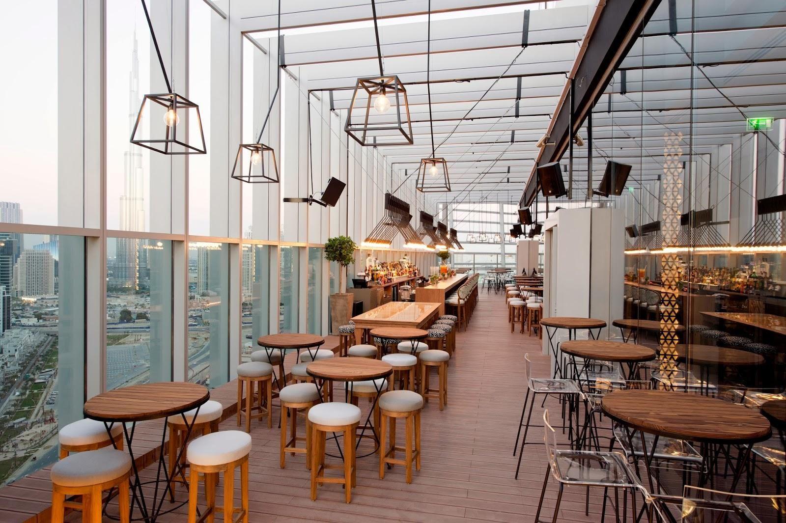Isis Rooftop Bar Restaurant Interior Design In Dubai Interior