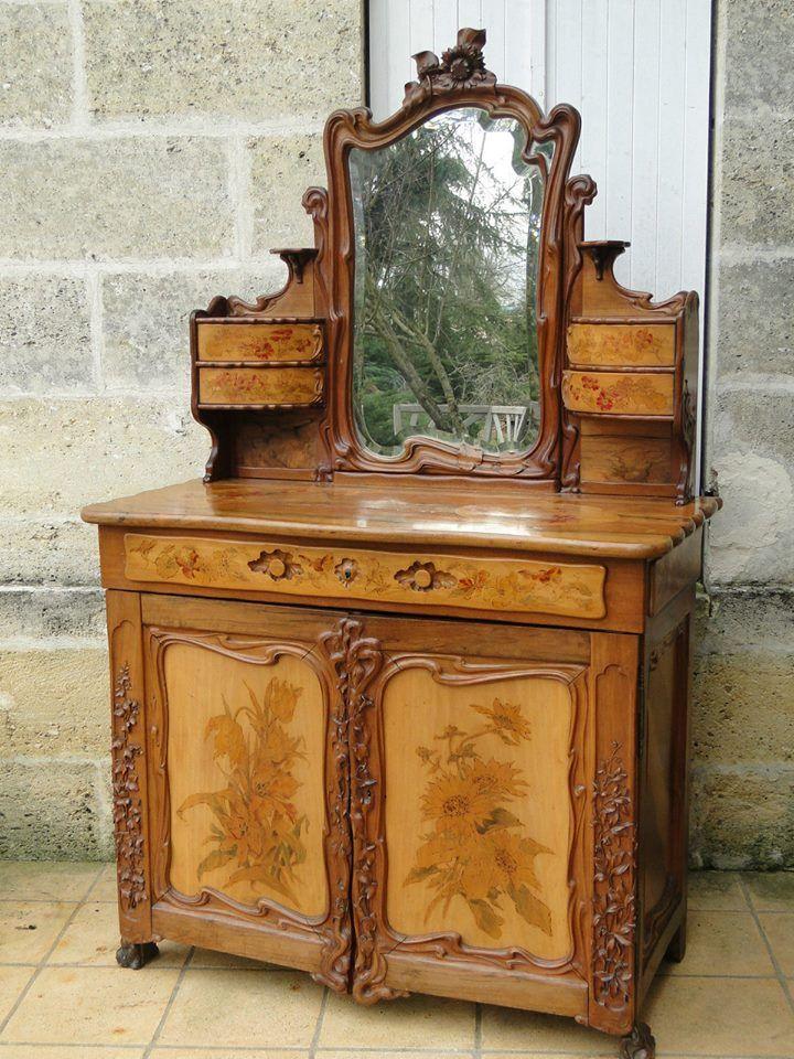 Art Nouveau Muebles - Armoire y vestidor psyche-1900 | Muebles de ...