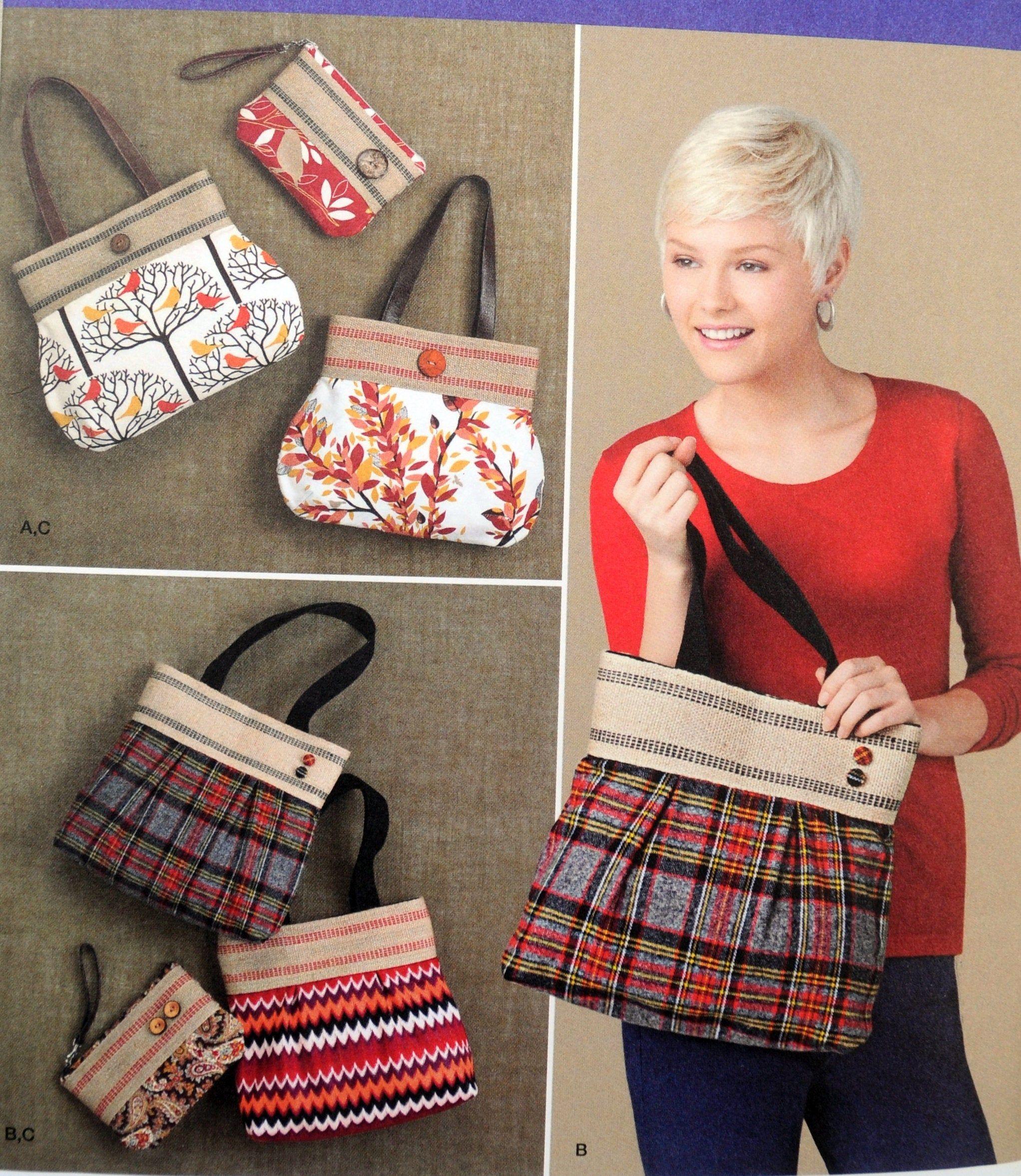 Simplicity 1519 - DIY Designer Bags - Purse, Pouch, Tote ...