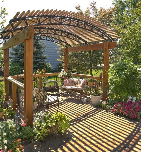 Garten Pergola Für Einen Größeren Sommergenuss Im Garten | Heiko's ... Holz Pergola Garten Moderne Beispiele