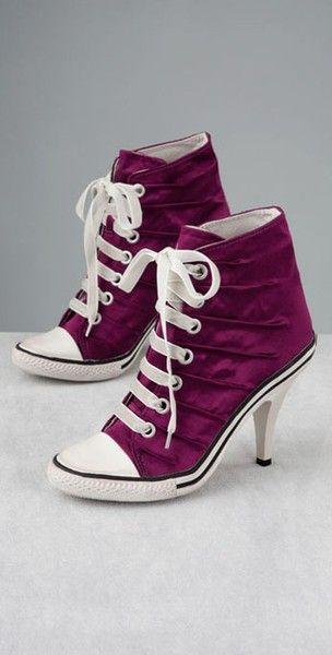 Niiiiice | Converse high heels, Sneaker heels, Converse heels