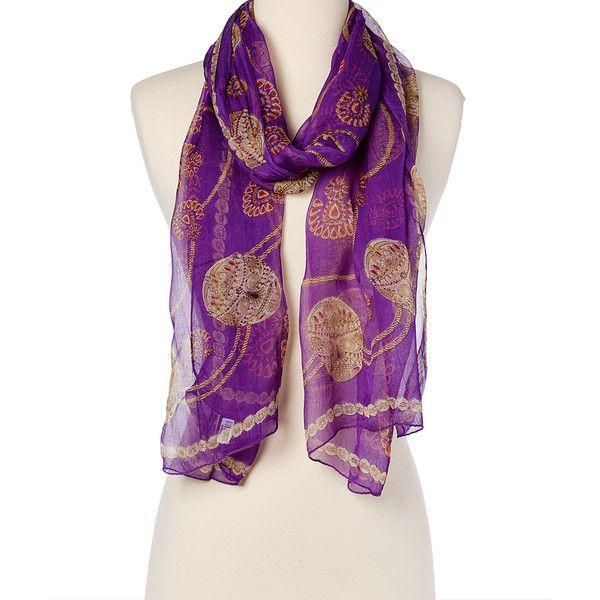 Raj Imports Purple Embellished Skull Silk Scarf ($8.99) ❤ liked on Polyvore featuring accessories, scarves, print scarves, skull scarves, purple silk scarves, silk scarves and skull shawl