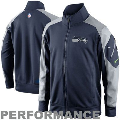 Nike Seattle Seahawks Fly Speed Full Zip Performance Jacket - College Navy 050f4a081