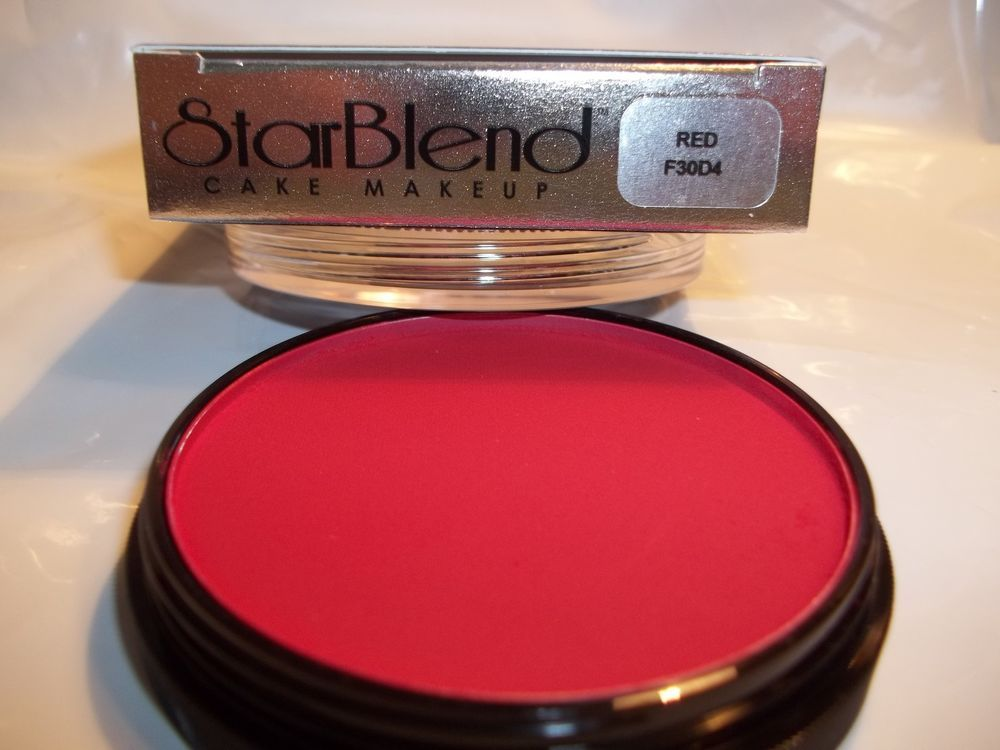Mehron Red Star Blend Cake Pancake Water Base Stage Makeup Professional Usa Stage Makeup Mehron Professional Makeup