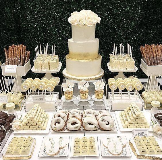 Ideas Para Armar Mesa Dulce Como Decorar Mesas De Dulces Para Fiestas Que Son Las Mesas De Dulces O D Candy Bar Wedding Dessert Buffet Wedding Dessert Table