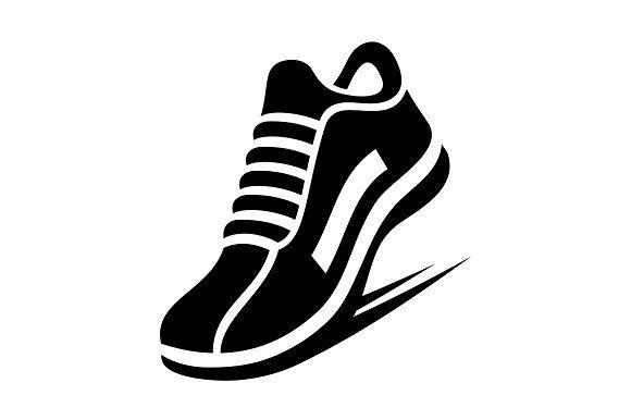 Running Shoe Icon Shoe Logo Design Shoe Logo Ideas Running Shoes Illustration