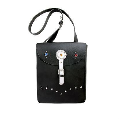 Men´s File X Flying Zacchinis - Leather Studded Bag - Black/White