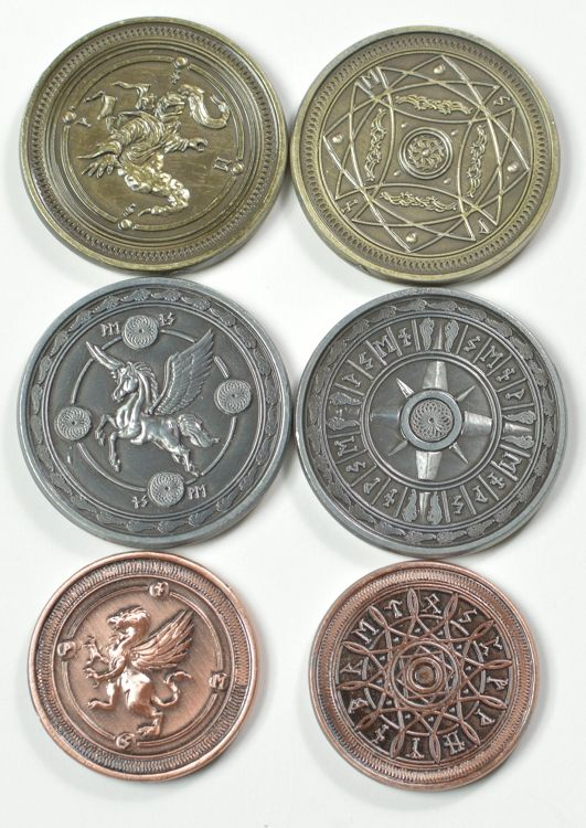 Gold Fantasy Coins for RPG and fun! | RPG Minis in 2019 | Custom