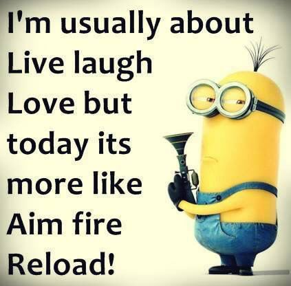 Live Laugh Love But Today S Aim Fire Reload With Images Funny