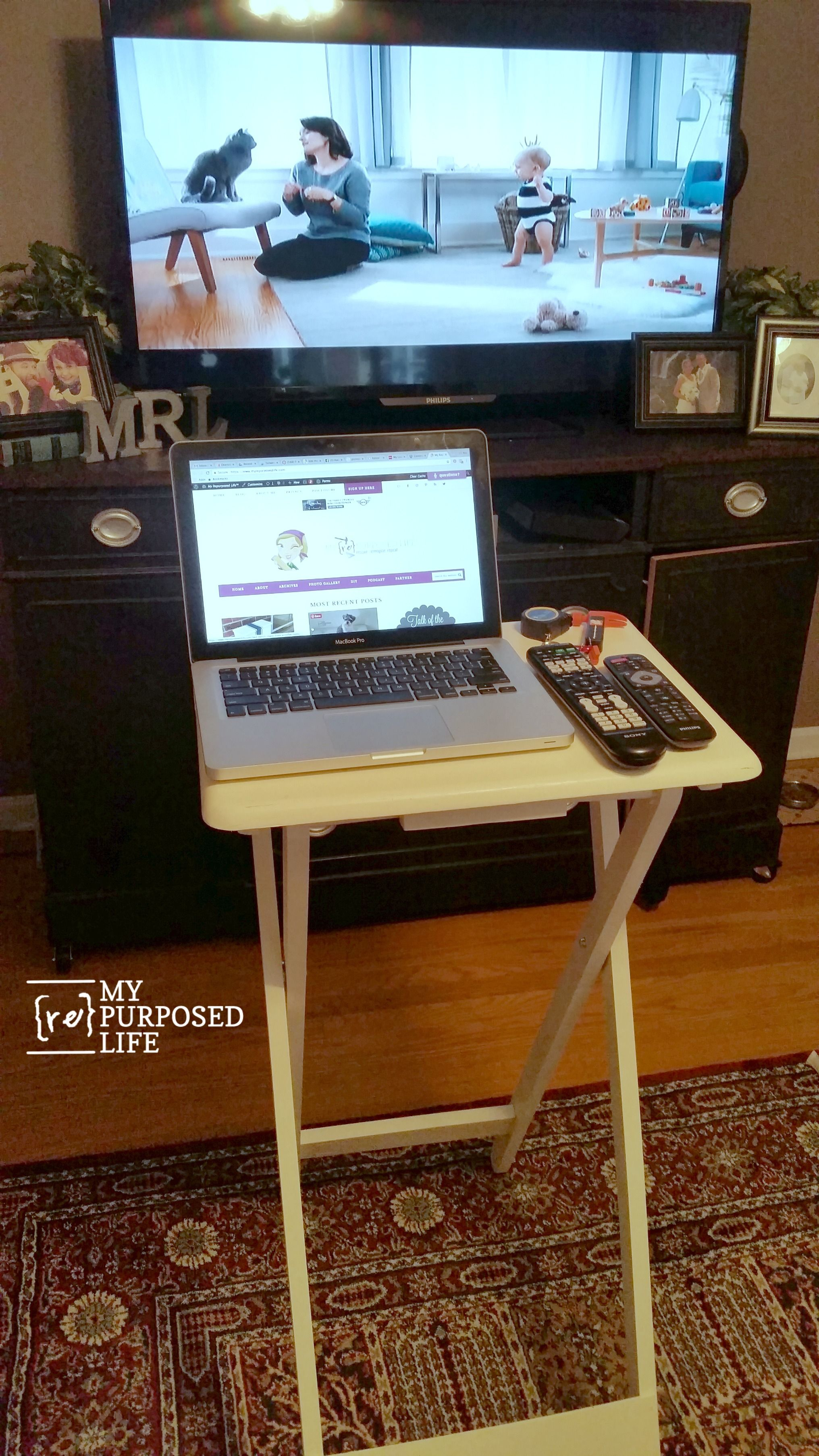 Make Your Own Standing Laptop Table for 20 Laptop table
