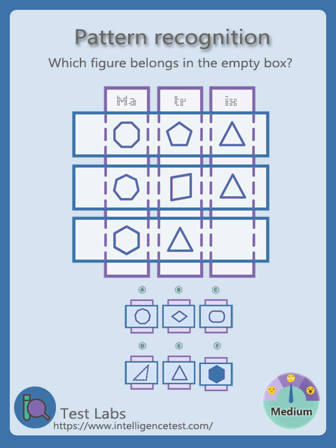 Which Figure Belongs In The Bottom Right Box Pattern