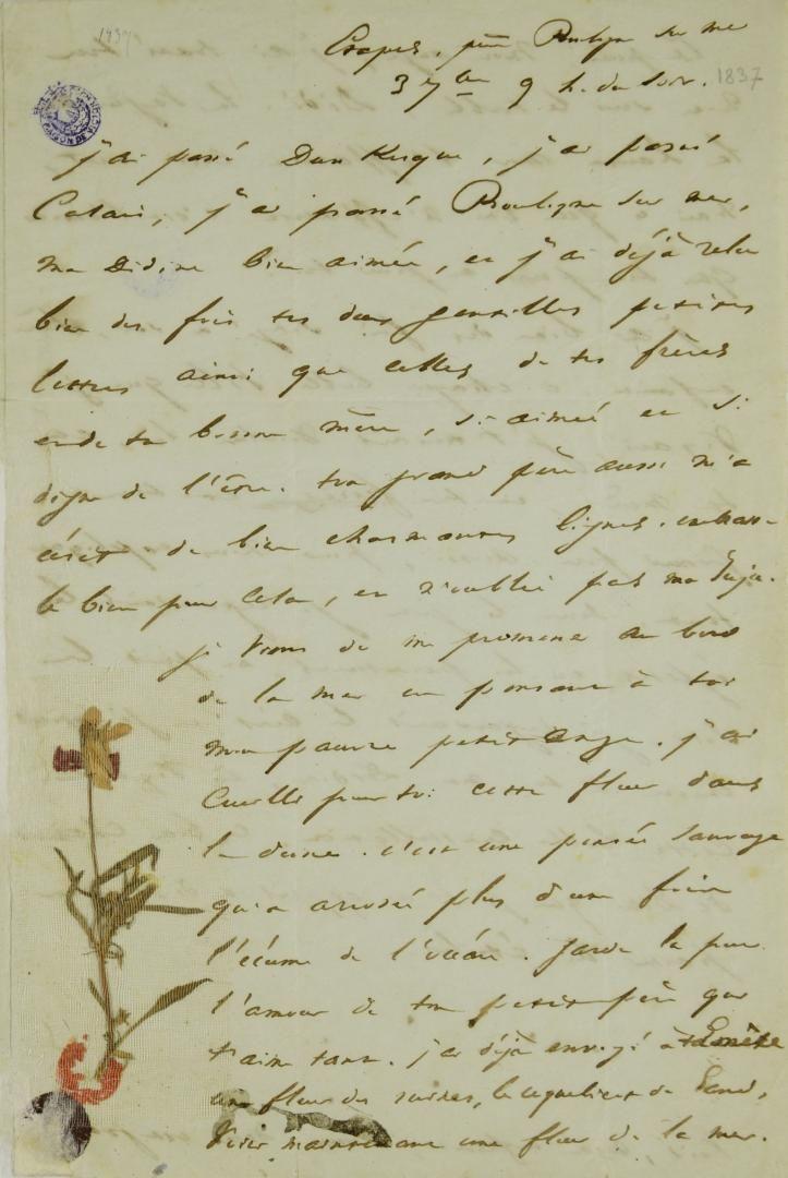 Lettre de Victor Hugo à sa fille Léopoldine   H comme Hugo   Victor hugo a6d1f6fc6f8