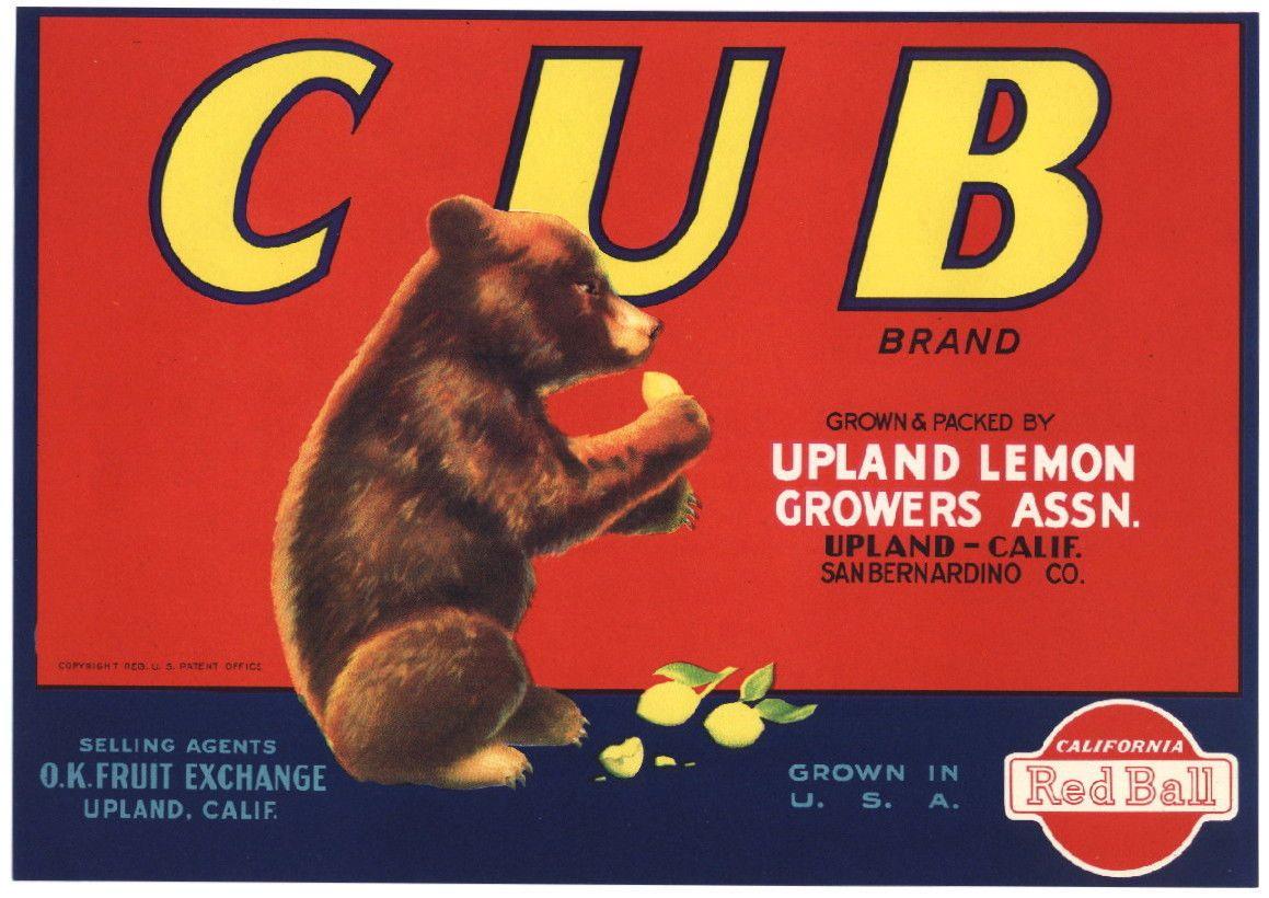 Fruit crate label, Fruit crate, Crate label