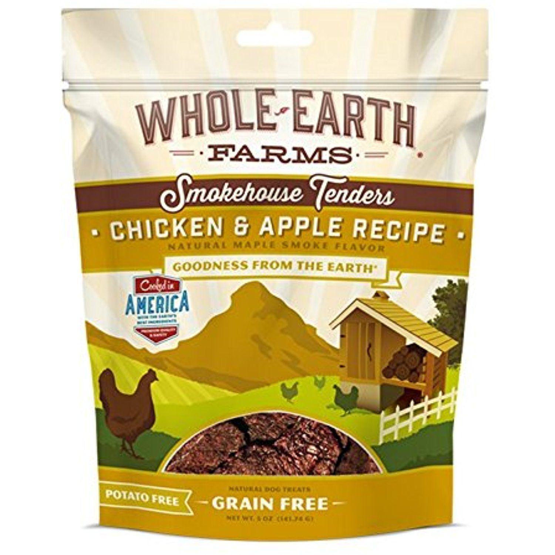 Whole Earth Farms Smokehouse Tenders Chicken Apple Treats 5 Oz