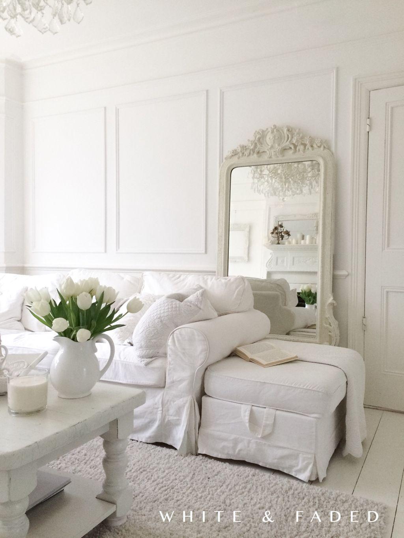 70 beautiful white shabby chic living room decoration ideas, Wohnzimmer dekoo
