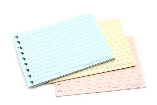 Maruman Smooth to Write Loose Leaf Mini Paper - B7 Modified - 6 mm - loose leaf paper template