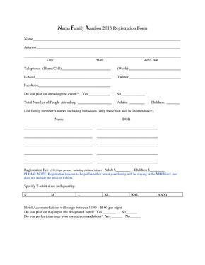 Customer Registration Form Sample Family Reunion Registration Form Template  Family Reunion Ideas .