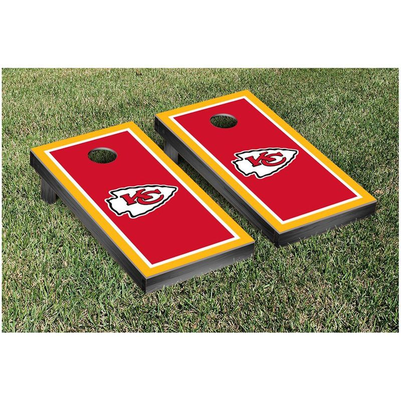 "Kansas City Chiefs 24"" x 48"" Border Cornhole Game Set"