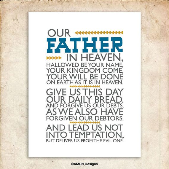 The Lord's Prayer. Matthew 6:9-13. DIY. PDF. 8x10 ...