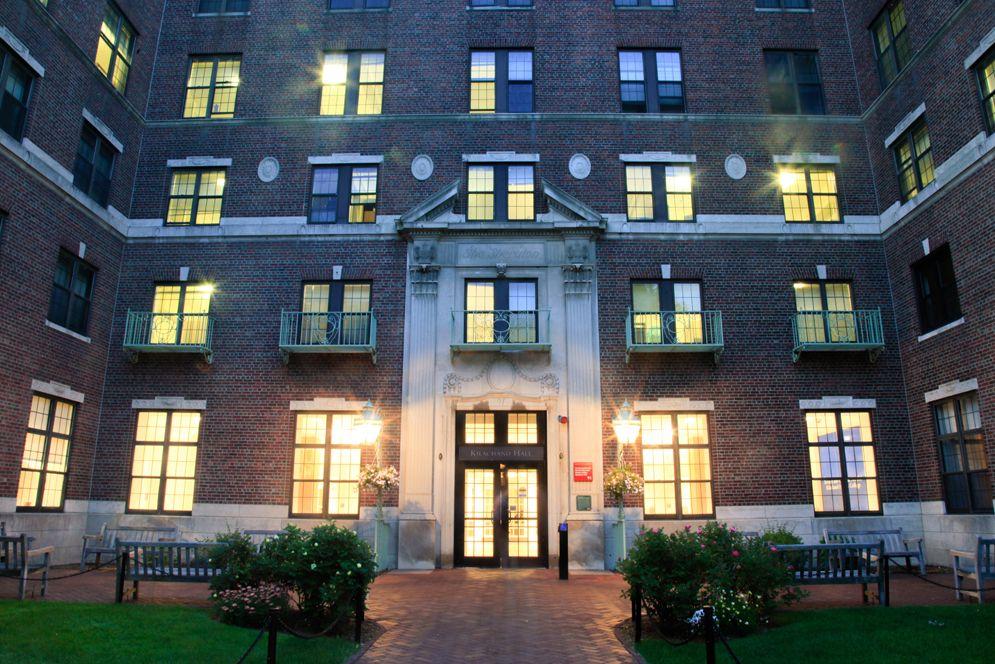 Nightfall At Kilachand Hall Bu Today Boston University Boston University Around The Worlds Hall