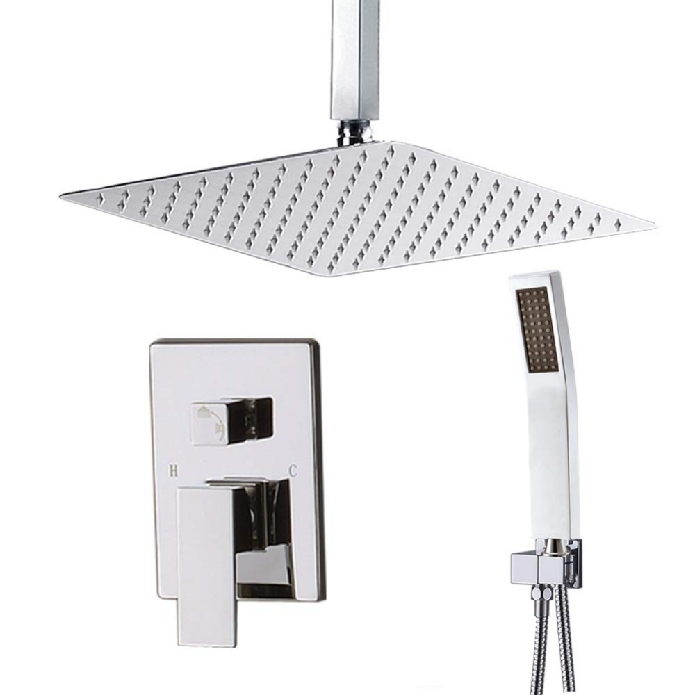 Starbath Ceiling Mount Shower System With High Pressure 12 Rain