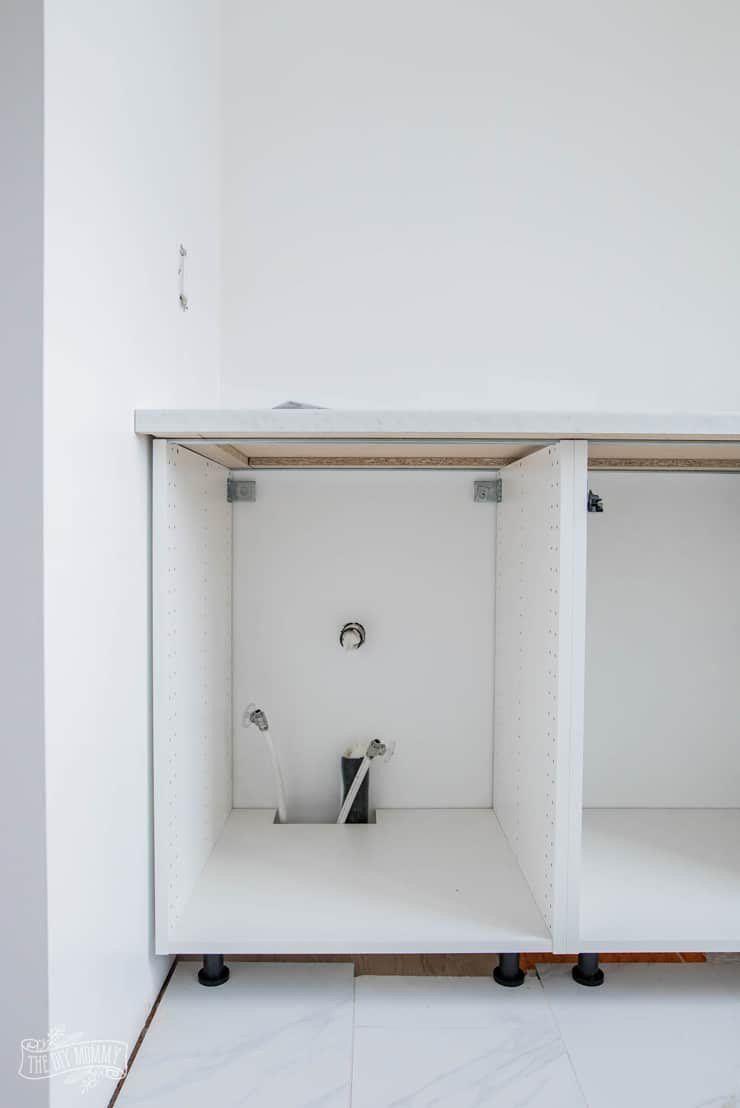 Using Ikea Kitchen Cabinet In Bathroom Luxury Hacking Ikea Kitchen Cabinets For A Bathroom Vani In 2020 Kitchen Cabinets In Bathroom Ikea Kitchen Ikea Kitchen Cabinets