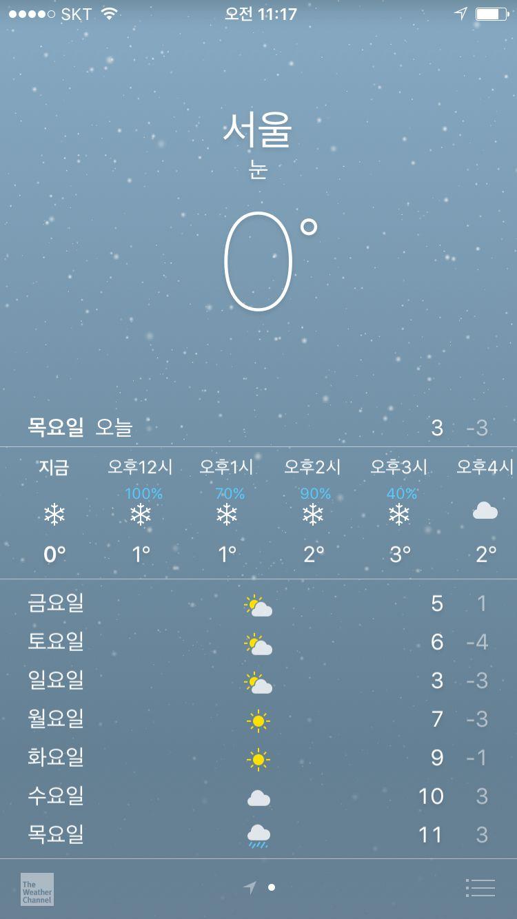 눈온다 :)