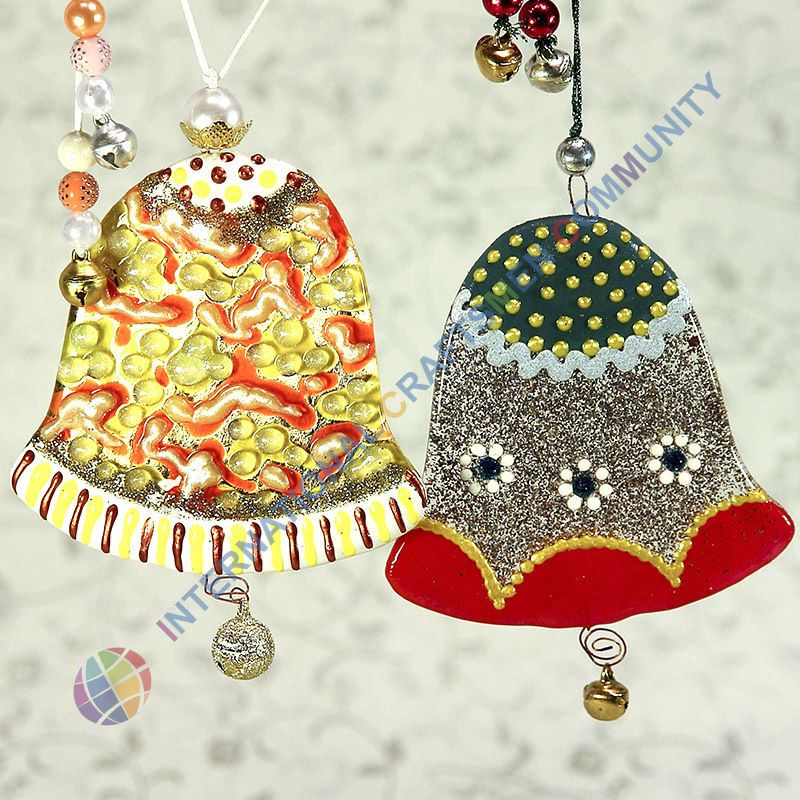 Small Decorative Bells Fair Glass Christmas Bell Santa Fused Murano Christmas Home Decor Inspiration Design