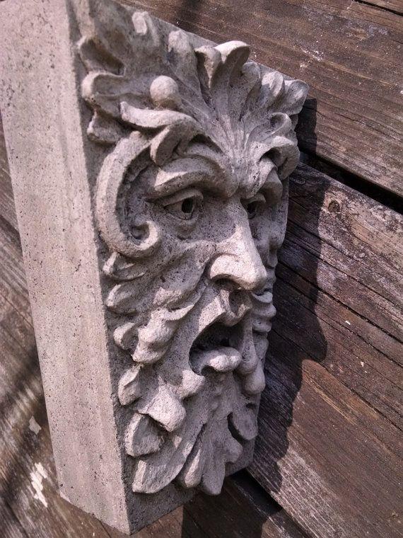 Green Man, Newbury Street, Keystone Leaf Face, Greenman, Garden Art,  Renaissance Element, Medieval Sculpture, Gothic Boston, Chalifour